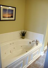 Hiawassee condo photo - Jetted Tub in Master Suite - Sep. Shower just Across from Tub