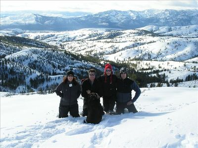 The gang snowshoeing at Echo Valley-- just a 15 min drive from Chelan Bluff.