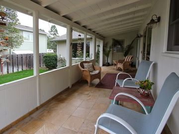 Solvang house rental - Porch great for enjoying that beautiful CA weather!