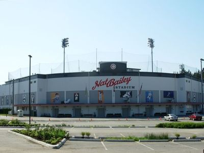 Nat Bailey Stadium just steps away - Home of Canadians Baseball