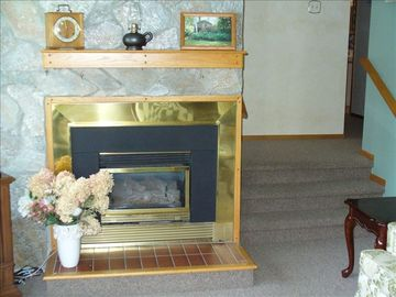 Warm those chilly evenings with the gas fireplace in the sunken living room