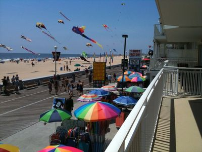 Oceans Mist Ocean City condo rental - View looking South from oversized balcony