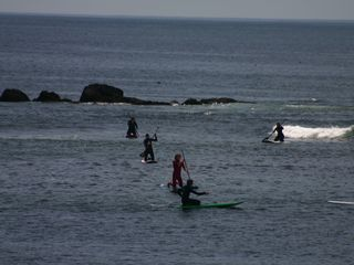 Hampton cottage photo - Paddle Boarders in Plaice Cove