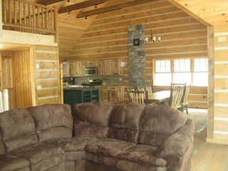 Hammond cabin photo - Great room with plenty of seating