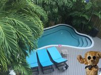 You will enjoy this tropical oasis and its convient location.