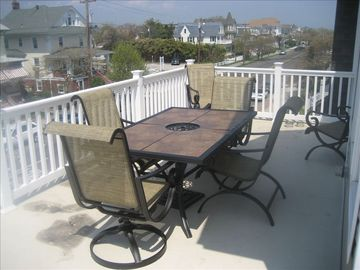 New patio furniture and lounge chairs.