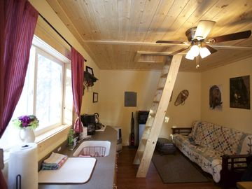 Fairbanks cabin rental - one of a kind relaxing Cabin, Kitchenette with Inventory.