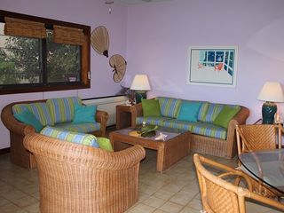 Cruz Bay condo photo - Enjoy your down time in the air conditioned comfort of the living room.
