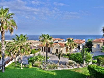 Villa Colibri is a second row ocean view home with a large vacant lot next to it