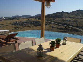 Veranda with Dinning Table - Mykonos villa vacation rental photo