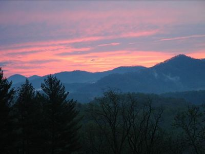 Are you an early bird?  Catch an amazing sunrise over Cold Mountain...