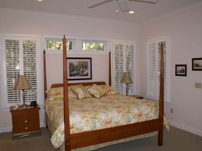 Master Bedroom with King Size Poster Bed