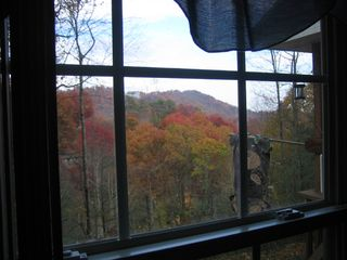 Maggie Valley house photo - View of mountains from inside the living room