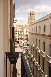 View from apartment, right on to LAS RAMBLAS
