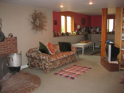 Lower level living room