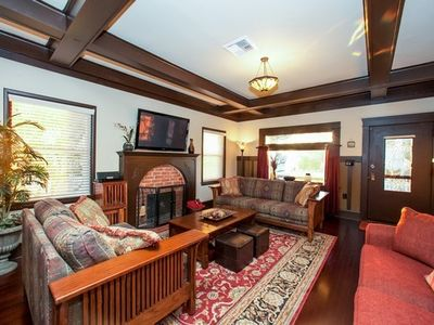 "Enchanting Family Room with Sofa Bed and 51"" HD TV and Wi-Fi Throughout"