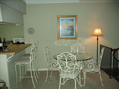 Inside dining area