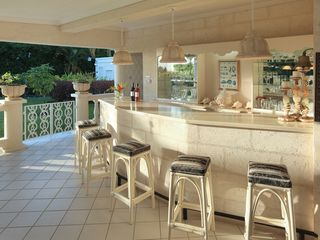 Sandy Lane villa photo - Convenient wet bar area on the covered terrace