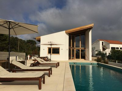 Beach house (beach villa) with garden and pool in a land of 1200 m2