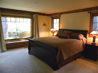 Master Bedroom #1 at Incline Cabin with a California King-size bed.