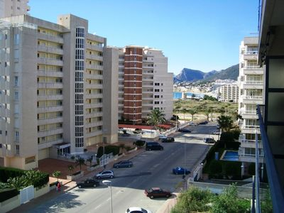 Calpe apartment rental - Terrace view towards Calpe Town