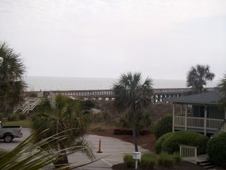 view of ocean from balcony - Isle of Palms condo vacation rental photo