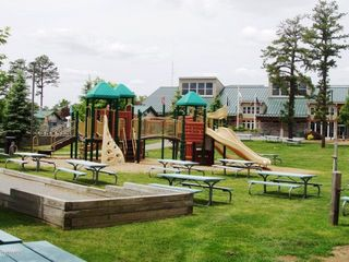 Masthope chalet photo - Bring the kids to new jungle gym park in front of lodge and pool