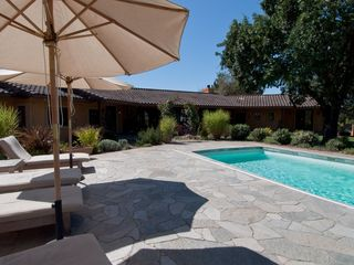 Sonoma house photo - Shade from the Oak and the Patio are a respite from the Sonoma Sun