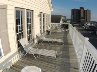 Cherry Grove Beach house photo - Upstairs Deck with Ocean View