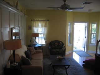living room -hardwood floors - Beach Haven townhome vacation rental photo