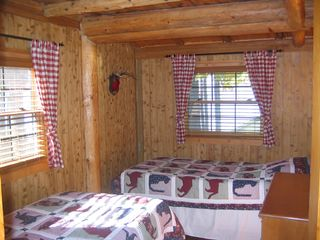 Burt Lake cabin photo - Bedroom 4- Located ground floor Lake side.