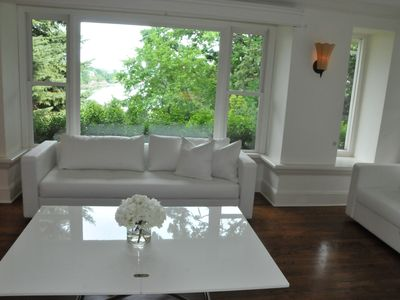 Living Room with views of Long island Sound