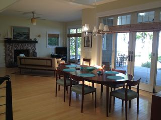 Coloma house photo - Dining area overlooking Lake Michigan