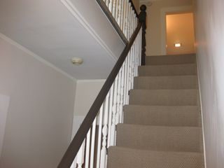 Lenox townhome photo - Staircase to upstairs bedrooms (may be challenging if physically impaired)
