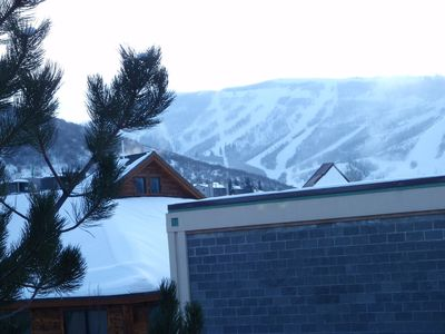 Our condo is very private with a view of Park City Mountain Resort.