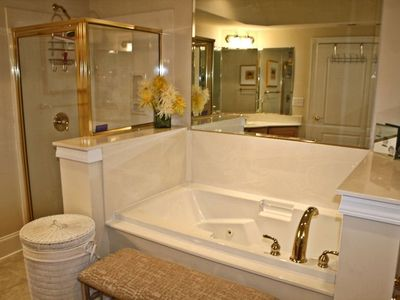 Master Bath - jetted tub, separate shower, 2 separate sinks