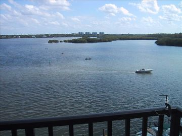 Breathtaking Balcony view overlooking Sarasota Bay.