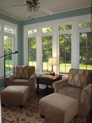 Montague house photo - Sunroom on 1st floor...the perfect place for a book.