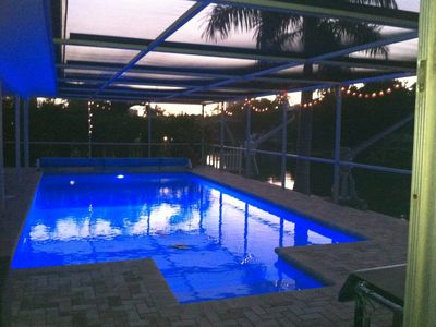 Great pool lighting for night swims!