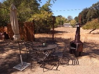 Glen Ellen cottage photo - Enjoy A Glass of Red next to your Outdoor Chiminea
