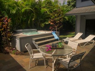 Poipu house photo - Jetted spa for relaxation after a long day hiking Na'Pali coast.