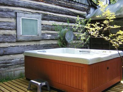 Relax in your private hot tub.