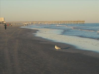 Surfside Beach with fishing pier