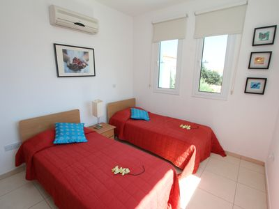 Pernera villa rental - twin bedroom