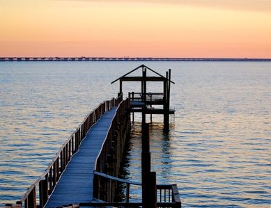 VIEW OF PIER OFF BACK PORCH LAKE PONTCHARTRAIN