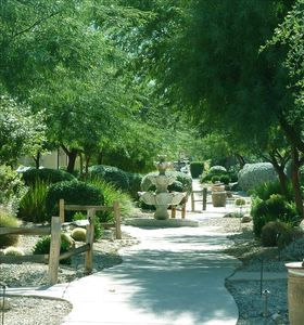 The Tubac town home is on a beautiful street just a short walk from the pool