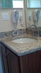 Orange Tree house photo - Main bath, new granite counter top and fixtures