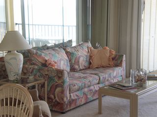 Belleair Beach condo photo - Living room with sleeper sofa