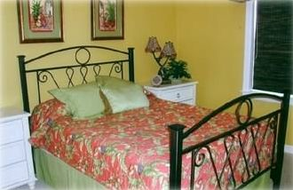 Third Bedroom with Queen Size Bed that adjoins hallway bathroom
