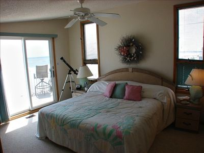 Master Bedroom, with Ocean Views and slider to deck